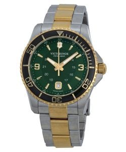 victorinox-swiss-army-maverick-gs-green-dial-twotone-stainless-steel-mens-watch-241605
